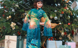 Xuống phố với muôn vẻ áo dài Giáng sinh