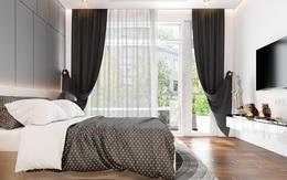 Sử dụng nội thất màu tương phản đen trắng đem lại hiệu ứng bất ngờ cho ngôi nhà phố