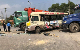 Tai nạn liên hoàn trên Đại lộ Thăng Long, một phụ nữ đứt lìa cánh tay