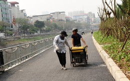 Hà Nội sắp hoàn thành tuyến đường dành riêng cho người đi bộ, xe đạp ven sông Tô Lịch