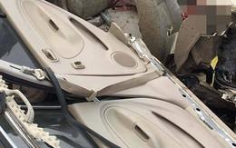 Kinh hoàng xe con va chạm nát bươm trên cao tốc khiến 1 người tử vong