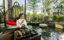 Ngất ngây với biệt thự 220 m2 rợp hoa cỏ của Nhật Kim Anh, nghe gia chủ tiết lộ giá trị hồ cá mới líu lưỡi