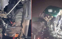 Hải Phòng: Mất lái, tài xế xe container gây tai nạn và mắc kẹt trong cabin