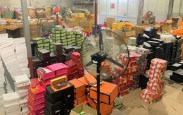 Phát hiện kho hàng chứa toàn túi hàng hiệu không nguồn gốc xuất xứ ở Hải Phòng