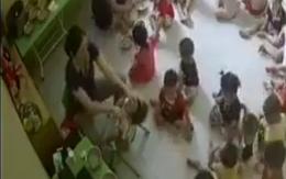 Hà Nội: Xôn xao clip cô giáo mầm non vật ngửa trẻ, ép ăn liên tục dù bé chưa kịp nuốt