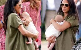 Meghan Markle một mình bế bé Archie ra sân bay, nhìn cách nàng dâu hoàng gia bế con ai cũng ngán ngẩm