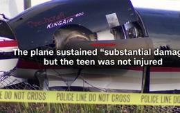 Thiếu nữ 17 tuổi trộm máy bay, lái đâm hàng rào sân bay quốc tế