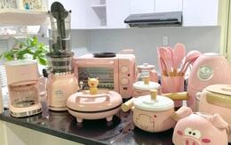"""Căn bếp màu hồng ngọt ngào đẹp """"rụng tim"""" của cô nàng dành tất cả niềm đam mê cho việc làm bánh ở Sài Gòn"""