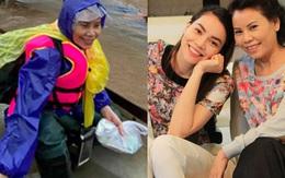 Tuổi 63, mẹ Hồ Ngọc Hà dầm mình trong nước lũ giúp đỡ bà con miền Trung