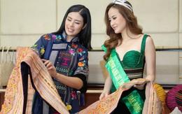 Hoa hậu Ngọc Hân hội ngộ Khánh Ngân trong Lễ hội văn hóa thổ cẩm Việt Nam