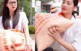 Trần Tiểu Vy cùng thí sinh Hoa hậu Việt Nam 2020 vác nửa tấn gạo đi từ thiện tại Vũng Tàu