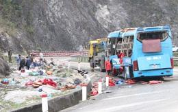 Xe khách lật trên quốc lộ khiến 12 người thương vong do mất phanh