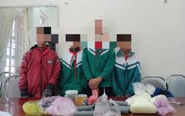 Bốn học sinh ở Hà Tĩnh tự chế pháo nổ