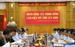 Đoàn Công tác Trung ương làm việc với tỉnh Tây Ninh về công tác về phòng, chống dịch Covid- 19