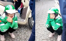 Nữ tài xế Grab khóc nức nở giữa phố vì bị khách lừa lấy điện thoại