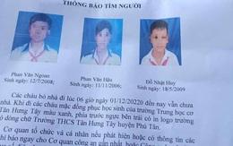Ba bé trai từ 11-14 tuổi đạp xe hơn 300km lên TP HCM tìm cha mẹ