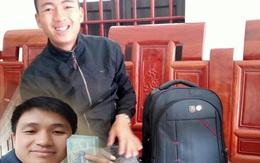 Nhặt được balo đầy tiền, cán bộ xã đăng lên facebook tìm người trả lại