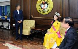 Những hình ảnh gây tranh cãi của Hoa hậu Đỗ Thị Hà khi về quê hương, về trường