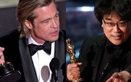 """Oscar 2020: Brad Pitt lần đầu cầm tượng vàng, """"Ký sinh trùng"""" làm rạng danh điện ảnh châu Á"""