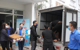 Các nhu yếu phẩm miễn phí được chuyển tới nhân dân Bình Xuyên (Vĩnh Phúc) phòng, chống dịch bệnh COVID-19