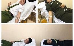 Hà Tĩnh: 4 chiến sỹ công an hiến máu cứu bệnh nhân nguy kịch