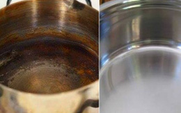 Nồi chảo nấu lâu ngày bị hoen gỉ, hãy đổ chai nước này vào rồi kì cọ và nhìn kết quả sau vài phút