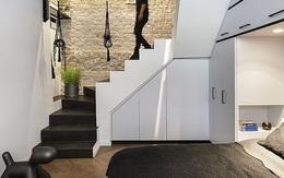 Căn hộ 36m² với những bức tường tủ lưu trữ cực kì thông minh