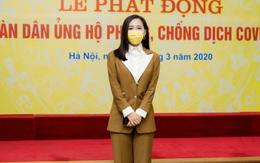 Mai Phương Thúy đại diện công ty ra Hà Nội ủng hộ 20 tỷ phòng chống COVID-19