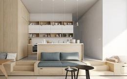 Những mẫu phòng khách liền kề nhà bếp được ưa chuộng nhất hiện nay