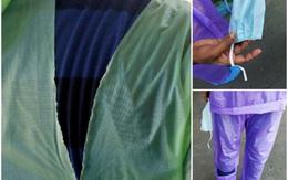 Bác sĩ Ấn Độ chiến đấu với COVID-19 bằng áo mưa, mũ bảo hiểm