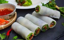 Bữa ăn nhanh gọn với món cuốn thanh mát, dễ làm