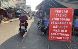 Bán hàng ở chợ không đeo khẩu trang, một tiểu thương ở Hà Tĩnh bị phạt tiền