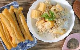 Cách làm cháo sườn Hà Nội, cháo sườn rau củ với quẩy bánh mì ngon tuyệt ăn cả ngày không chán