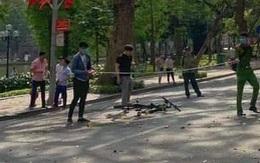 Cụ bà bị nam học sinh đi xe đạp đâm trúng tại phố đi bộ hồ Gươm đã tử vong