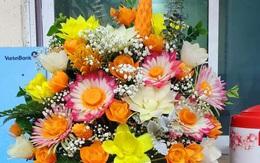 Dân mạng ngỡ ngàng trước lẵng hoa tỉa bằng rau củ đầy sắc màu của nhiều loại hoa