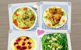 Cơm chiều ngon với canh chua ngao nấu dứa, thịt gà chiên ngũ vị