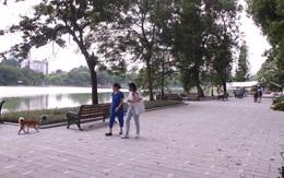 Người dân Thủ đô ngỡ ngàng vì Hồ Gươm thay áo mới