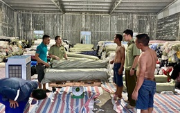 Hưng Yên: Phát hiện kho hàng chứa 80 tấn vải cuộn không rõ nguồn gốc xuất xứ