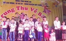 Tặng quà hàng trăm trẻ có hoàn cảnh khó khăn trên địa bàn Nghệ An