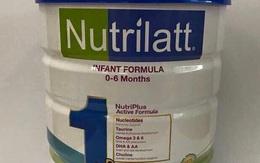 Hàng chục mẫu sữa Nutrilatt 1 và 2 của Singapore có hàm lượng sắt, kẽm thấp hơn nhiều so với quy định