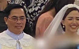 Ảnh hiếm hoi của Tóc Tiên và Hoàng Touliver trong hôn lễ ở nhà thờ
