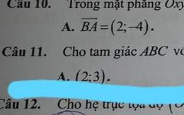 Đề kiểm tra với đáp án khiến học sinh hỏi nhau: Có phải thầy cô đang thử thách chúng mình hay không?