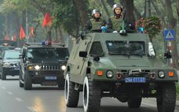 Công an Hà Nội sử dụng xe bọc thép, xe đặc chủng đảm bảo an ninh Đại hội Đảng XIII