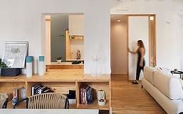 Căn hộ gỗ tối giản 93 m2 của vợ chồng trẻ