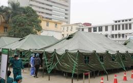 Chỉ 4 tiếng, bệnh viện dã chiến Bạch Mai thần tốc hoàn thiện với 8 nhà bạt, 64 giường bệnh, đầy đủ tiện nghi