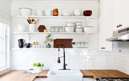 15 mặt bếp được làm từ gỗ giúp tạo sự ấm cúng cho nhà bếp