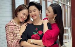 """Tình """"mẹ con"""" thân thiết ngoài đời thực của NSND Thu Hà với Hồng Diễm, Quỳnh Kool"""