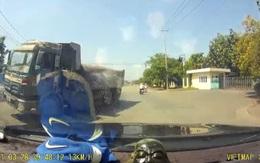 """Kinh hãi xe ben chạy tốc độ """"tử thần"""" suýt đâm ôtô ở Đồng Nai"""