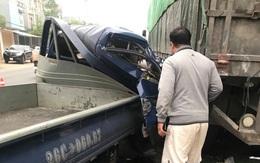 Xe tải tông vào đuôi xe đầu kéo trên quốc lộ 6 khiến 1 người tử vong