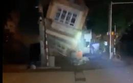 Nhà 3 tầng bất ngờ đổ sập trong đêm ở Lào Cai